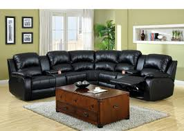 Black Leather Sectional Sofa With Recliner Sectional Reclining Sofa Sale England Novak Black Pearl Sleeper