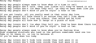 rainy day people by gordon lightfoot lyrics gordon lightfoot song rainy day people lyrics
