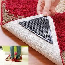 4pcs silicone rubber carpet mat patch rug carpet gripper non slip grip pad us