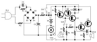 emergency light alarm schematic design