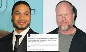 Movies tagged as 'joss whedon' by the listal community. Justice League Actor Ray Fisher Slams Director Joss Whedon For Gross Conduct Onset Of 2017 Movie Daily Mail Online