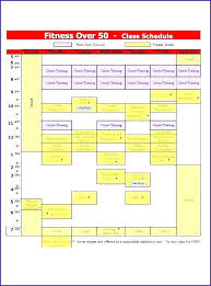 Class Timetable Template | Ophion.co