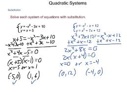 algebra2 4 9 quadratic systems