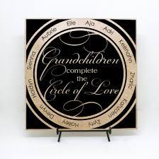 Grandchildren Quote Sign With Names Personalized Grandchildren Gift
