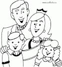 Раскраска по теме моя семья