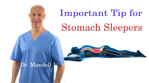 important tip for stomach sleepers stop neck back pain dr mandell