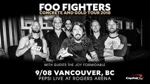 Foo Fighters Concrete And Gold Tour 18 Rogers Arena
