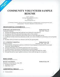 sample resume with volunteer work sample resume showing volunteer work  community volunteer resume sample to do