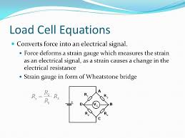 load cell equations converts force into an electrical signal