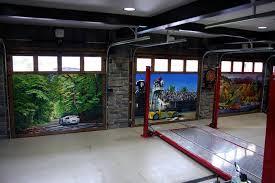 garage door muralsHAND PAINTED MURALS ON GARAGE DOORS  Custom Garage Storage