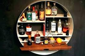 medium size of wall bar glass shelf wood with towel hanging shelves mounted liquor led lighted