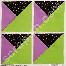 3 Patch Quarter Square Triangle Tutorial Use Formula Or Chart