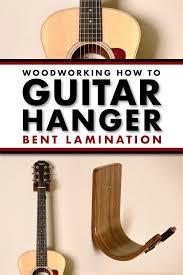 diy guitar hanger made using bent wood