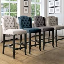 counter height stools. Shop Furniture Of America Telara Contemporary Tufted Wingback 24-inch Counter Height Chair (Set 2) - On Sale Free Shipping Today Overstock.com Stools