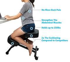 kneeling ergonomic chair. Interesting Ergonomic Amazoncom 2 PCS SLEEKFORM Ergonomic Kneeling Chair Adjustable Stool  For Home And Office  Thick Comfortable Cushions Kitchen U0026 Dining Inside Chair G