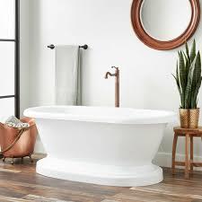avon acrylic freestanding tub roll top no drillings