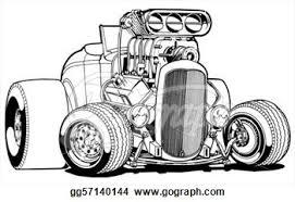 Small Picture Stock Illustration Cartoon Deuce Hot Rod Clip Art Gg57140144