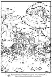 coloring in page. Perfect Page Fantasy Coloring Page And In O