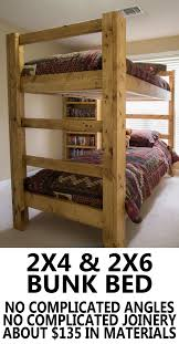 Bunk Beds With Stairs Bed Plans And On Pinterest Build Your Own Super Easy  Strong
