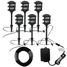 Portfolio Low Voltage Landscape Audio Path Lighting Portfolio Bluetooth Audio 6 Path Light Black Low Voltage 8 5