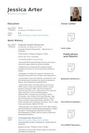 Grad Student Cv A Good Owner Manual Example