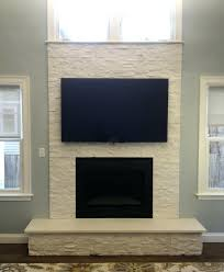 mounting plasma tv brick fireplace over how to hang above and hide wires