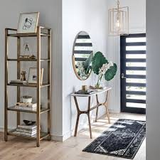 decorating a console table in an entryway