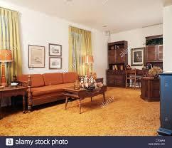 Orange Couch Living Room Retro Living Room Stock Photos Retro Living Room Stock Images