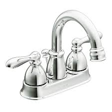 moen caldwell chrome 2 handle 4 in centerset watersense bathroom sink faucet with drain