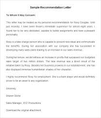 teacher letter of recommendation templates of letters of recommendation employee letter