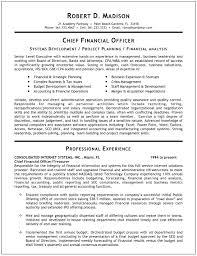 CFO Sample Resumes Free Resumes Tips