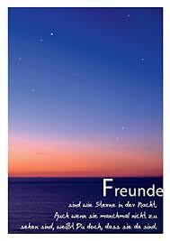Schöne Sprüche Postkarte Freundschaft Und Sterne Freunde Sind Wie