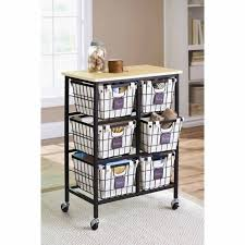 Better Homes And Gardens 6Drawer Wire Cart Black  Walmart