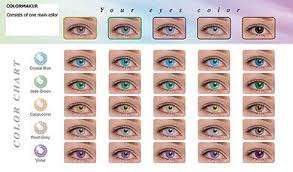 Contact Lenses Colour Chart Pin By Char