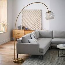 Floor lamps in living room Small Overarching Acrylic Shade Floor Lamp Antique Brasssmoke Pinterest 1665 Best Floor Lamp Images Transitional Chandeliers Light Design