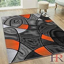 orange area rug. HR ABSTRACT MODERN CONTEMPORARY CIRCLE PATTERNS DESIGN AREA RUG ORANGE AND GREY (5 FT X Orange Area Rug