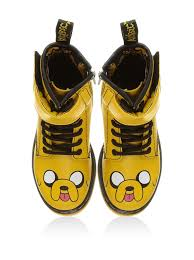 dr martens martens kids yellow leather jake the dog boots boys shoes