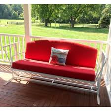 more views custom outdoor glider porch swing cushion