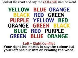 Red Orange Colour Chart Look At The Chart And Say The Colour Not The Word Yellow