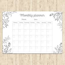 monthly planner free download hand painted monthly planner vector free download