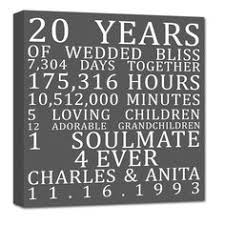 20th wedding anniversary for wife personalized unique cotton gift our story the couples life together through the years this makes the