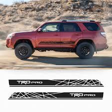 Amazon.com: Toyota 4Runner TRD PRO style graphics side stripe ...