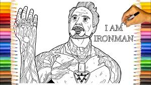 Fun iron man coloring pages for your little one. Iron Man Snap Coloring Pages Iron Man The Avengers Endgame Mark 85 Youtube