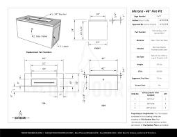 Merona Size Chart Merona Fire Table