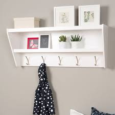 Mounted Coat Rack With Shelf Home Source Coat Hook Wall Mounted Unit White 100 Open Shelves 100 92