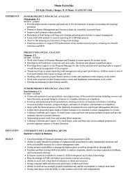 Financial Analyst Resume Objective Project Financial Analyst Resume Samples Velvet Jobs 92