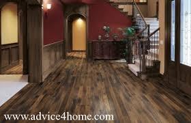 dark brown hard wood flooring in entrance area