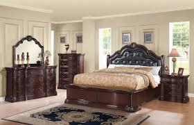 Mirrored Headboard Bedroom Set Acme Veradisia 4 Piece Storage Bed W Button Tufted Headboard In