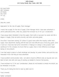 supply chain manager cover letter example supply chain manager cover letter