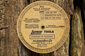Nc Tap Chart Lufkin Screw Threads And Tap Drill Sizes Chart From 1935